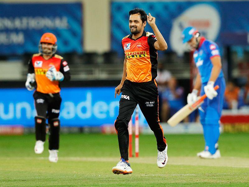 Shahbaz Nadeem of Sunrisers Hyderabad