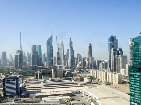 Stock Dubai Skyline