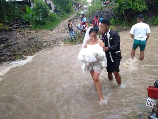 For Filipino couple, love proves stronger than typhoon
