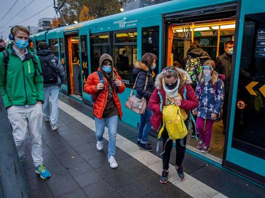 Germany subway masks