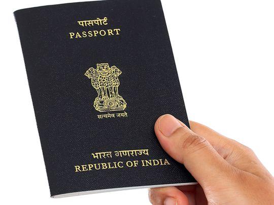 Stock Indian passport