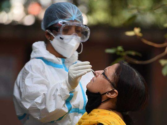 Health workers INdia swab coronavirus