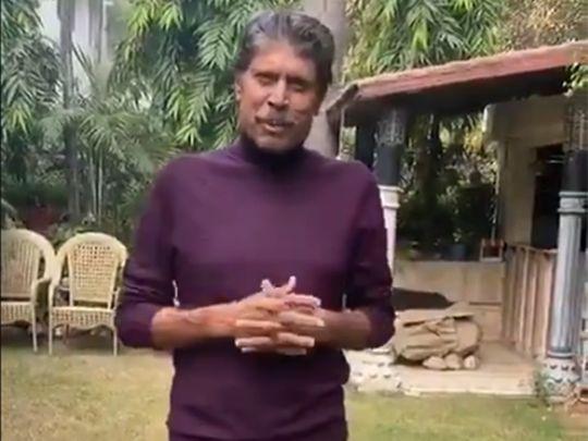 Kapil Dev says he is 'feeling good' in video