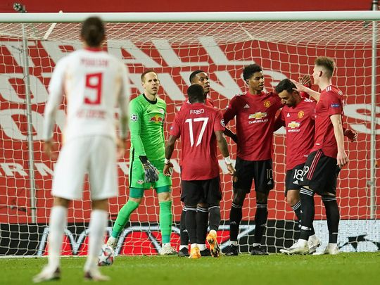 Leipzig were thrashed by Manchester United in the Champions League