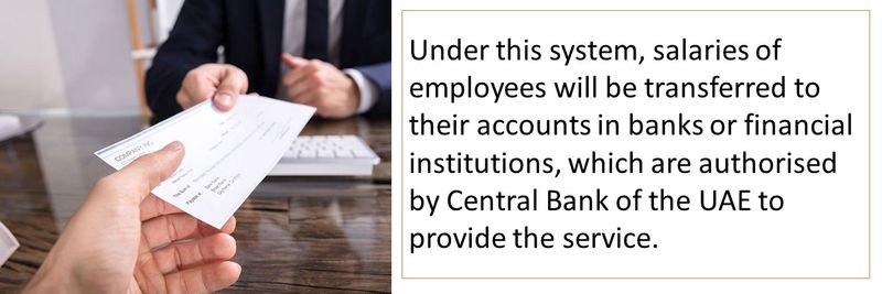 Under this system, salaries of employees will be transferred to their accounts in banks or financial institutions, which are authorised by Central Bank of the UAE to provide the service.