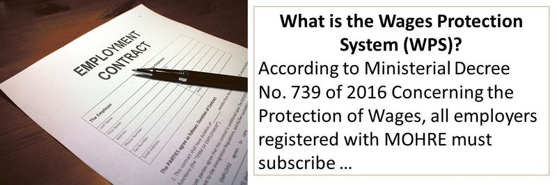 What is the Wages Protection System (WPS)? According to Ministerial Decree No. 739 of 2016 Concerning the Protection of Wages, all employers registered with MOHRE must subscribe …