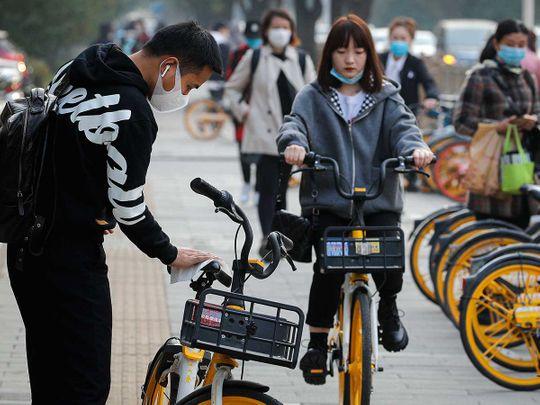 China beijing cycle coronavirus mask