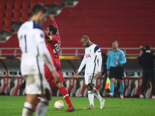 Tottenham were beaten by Antwerp in the Europa League