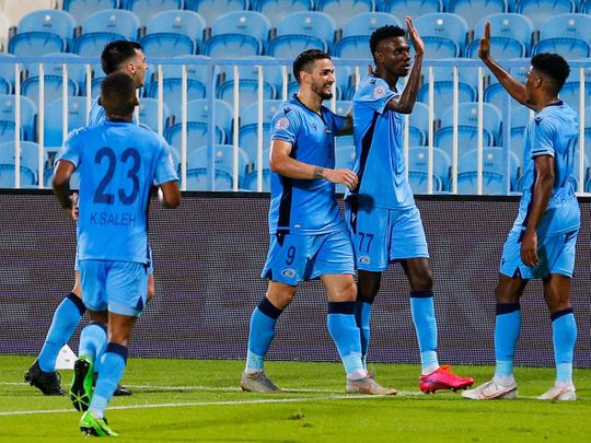 Bani Yas thumped Khor Fakkan 5-0 in the AGL