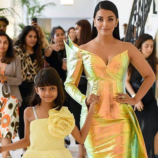 Aishwarya Rai with her daughter