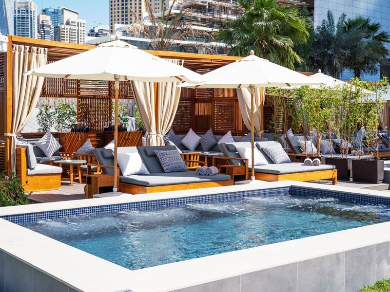 Azure private cabanas