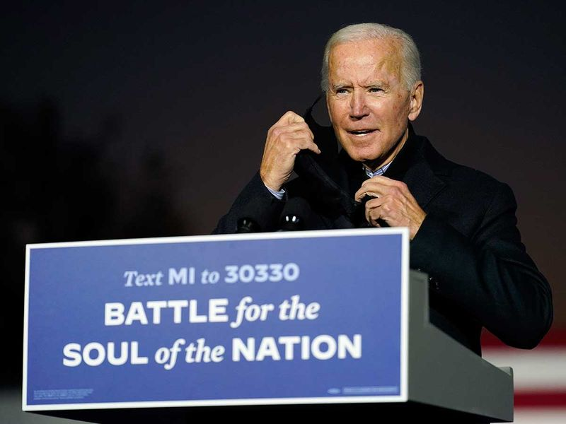 Democratic presidential candidate former Vice President Joe Biden Michigan Detroit