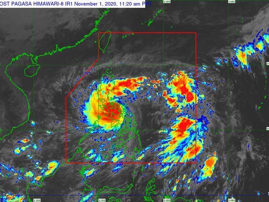 Radar image tracking supertyphoon Goni as of 10am Philippine time (6am UAE)