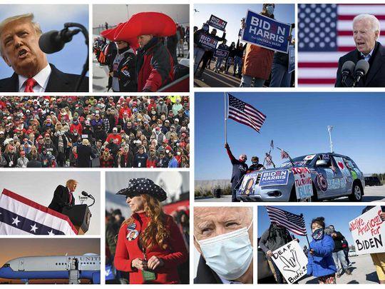 Trump Biden campaign US president election