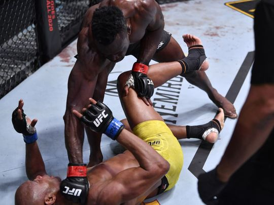 Uriah Hall defeated Anderson Silva in UFC Fight Night