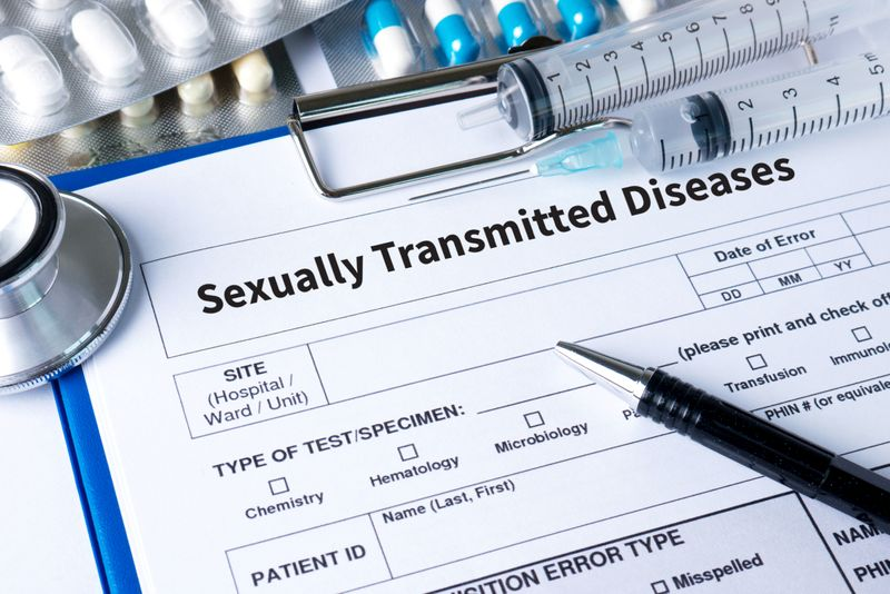 stock Sexually Transmitted Diseases HIV, HBV, HCV, Syphilis STD ,STOP STD