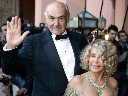 Sean Connery and his wife Micheline Roquebrune