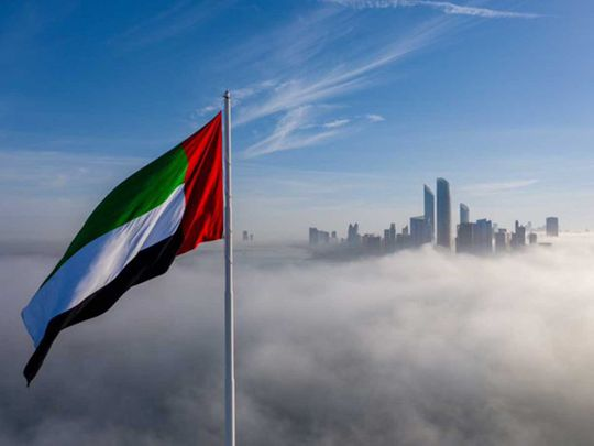 UAE flag raised in UAE