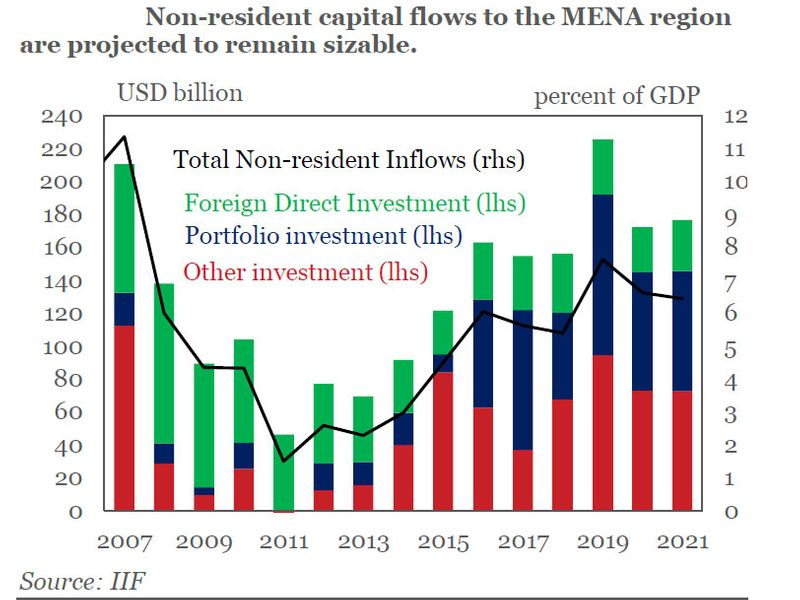Mena capital inflows