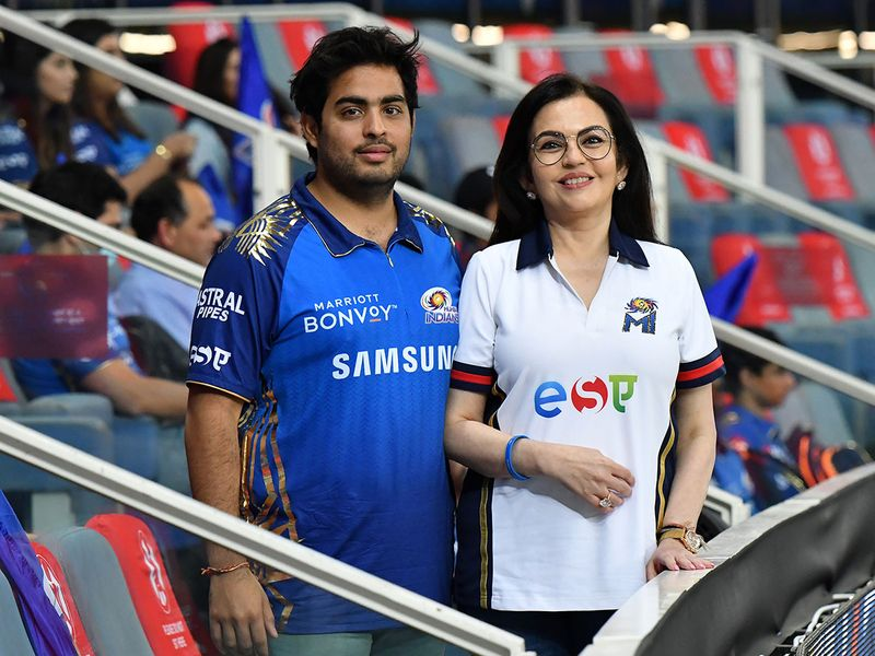 Nita Ambani and Akash Ambani