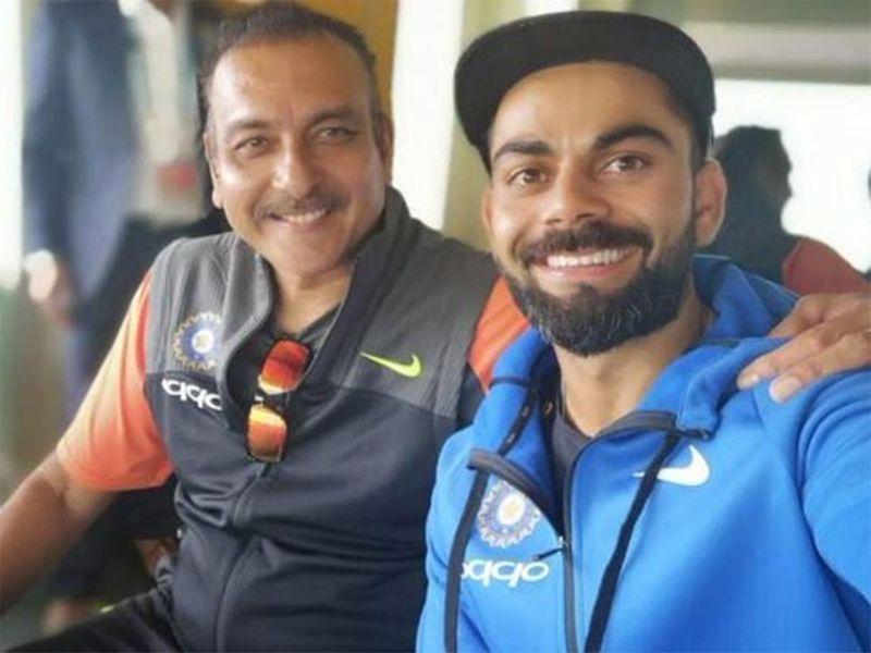 Virat Kohli and Ravi Shashti