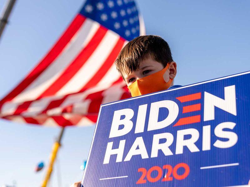 Delaware boy Biden supporter