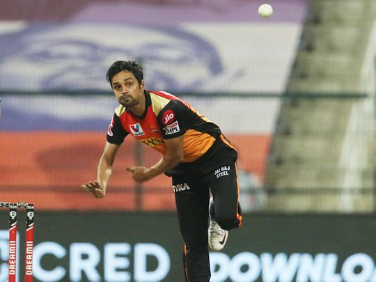 Shahbaz Nadeem of Sunrisers Hyderabad