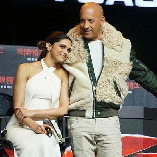 Deepika Padukone with Van Diesel
