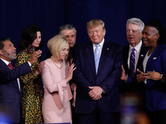 Evangelical church leaders Donald Trump