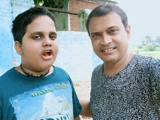 NAT Rajeev Nigam with son Devraj-1604924102371
