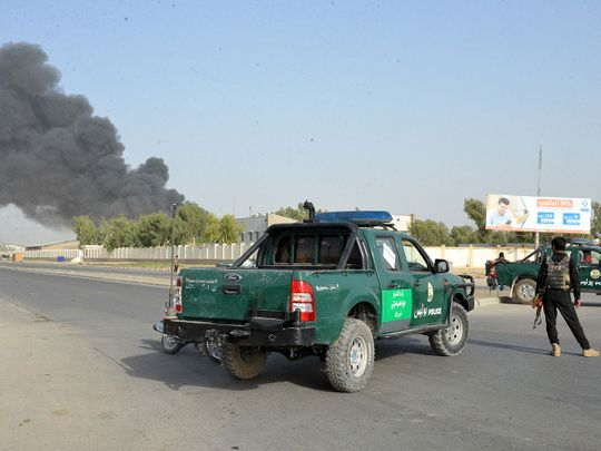 Suicide car bomber kills 4 and injures 40 in Afghanistan