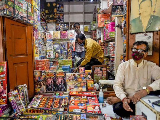firecrackers shop Delhi Diwali India