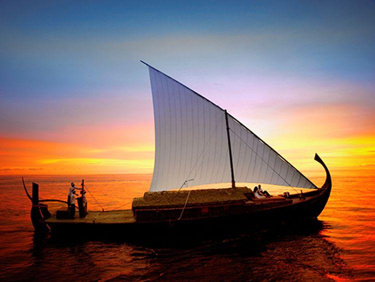 Baros Maldives sunset cruise