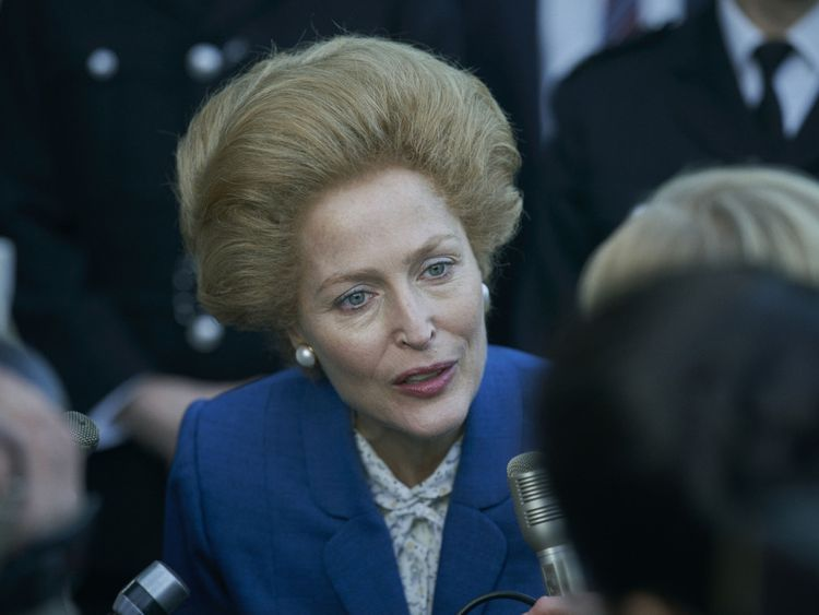 Gillian Anderson as Margaret Thatcher in The Crown-1604989462058