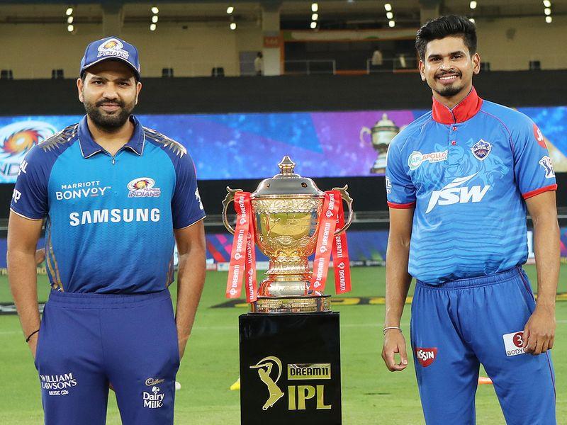 Mumbai Indians skipper Rohit Sharma (left) and Delhi Capitals captain Shreyas Iyer