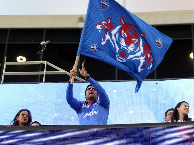 Parth Jindal owner of DC during the final match of season 13 of the Dream 11 Indian Premier League (IPL) between the Mumbai Indians and the Delhi Capitals at the Dubai International stadium, Dubai in the United Arab Emirates on the 10th November 2020.