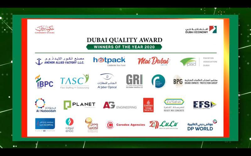 Dubai Quality Award winners