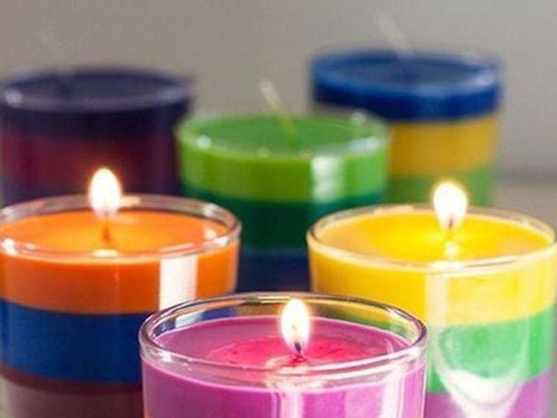 Wax candles diwali