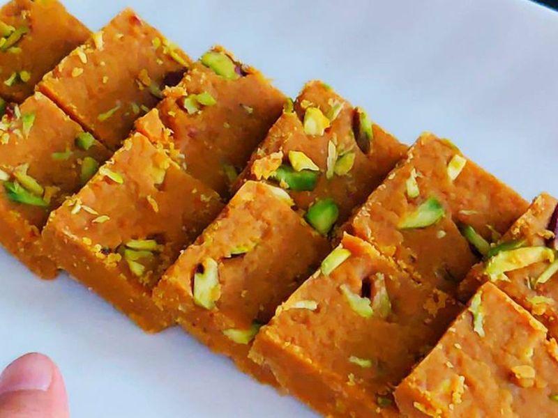 Amritsar Barfi (Besan barfi)