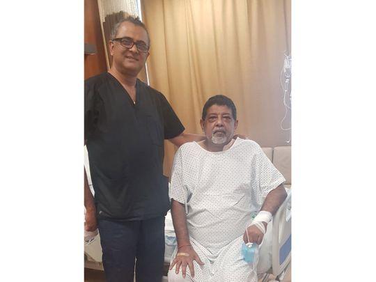 Manoj with Dr Bhat