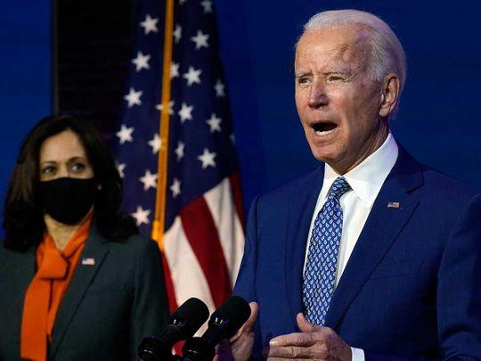 President-elect Joe Biden, joined by Vice President-elect Kamala Harris Delaware