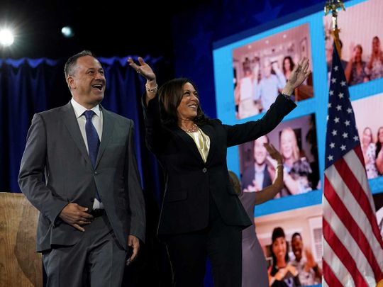 Kamala Harris and husband Doug Emhoff