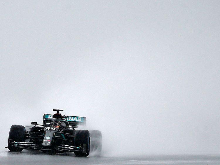 Lewis Hamilton struggles in the rain in Turkey