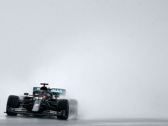 Lewis Hamilton struggles in the rain in Turkey