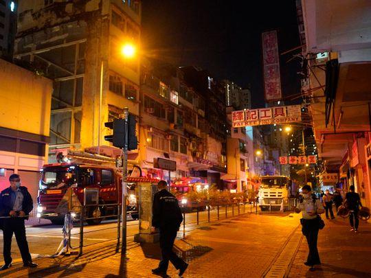 Hong Kong fire fighters