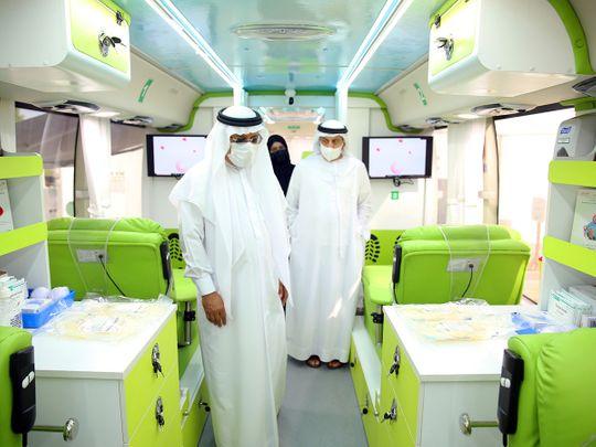 Dubai Health Authority launches smart bus for blood donation