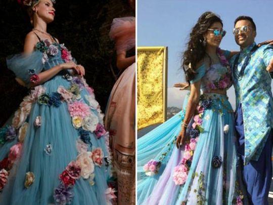 Sana Khan dress