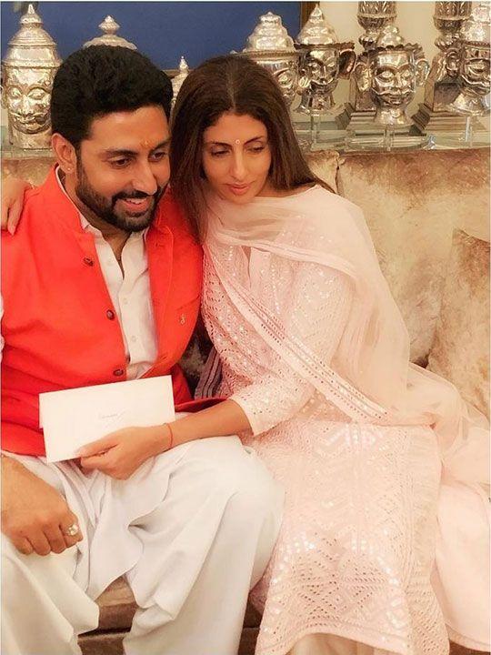 Shweta and Abhishek Bachchan