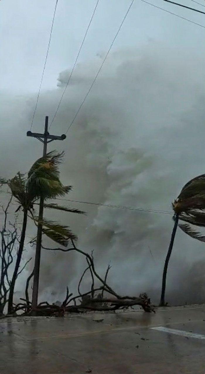 Hurricane Iota makes landfall in San Andres, Colombia.
