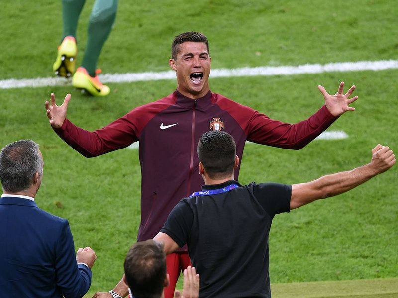 Cristiano Ronaldo celebrates Portugal's Euro 2016 triumph